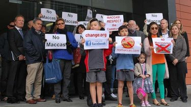 Applecross residents protest against plans for a new McDonald's outside the State Administrative Tribunal Building in August.