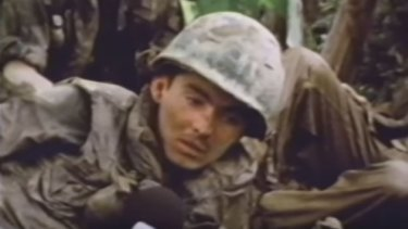 The outcome of the US-led Vietnam War was shaped by television. A soldier is interviewed during combat.