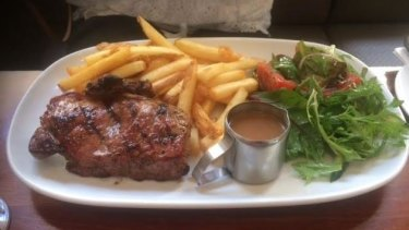 Steak and chips is a favourite at the Broken Hill.