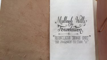 The Mullagh Wills Foundation message book.