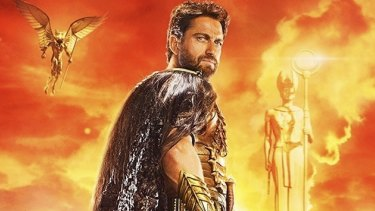 Poster image from <i>Gods of Egypt</i> featuring Gerard Butler.