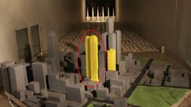 A model of 560 Lonsdale Street, taken from a Melbourne City Council report.