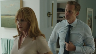 Nicole Kidman with her on-screen husband Alexander Skarsgard in Big Little Lies.