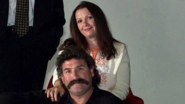 Cheryl DiPierdomenico with her husband, Hawthorn legend Robert DiPierdomenico.