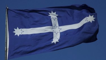 The Eureka flag.The right-wing think tank, the Institute of Public Affairs, and the mining union, the CFMEU, are at loggerheads over the spirit and saga of Eureka.