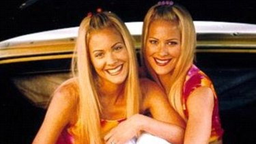Cynthia and Brittany Daniel as Elizabeth and Jessica Wakefield in the Sweet Valley High TV show.