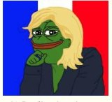 Marine Le Pen as Pepe the Frog