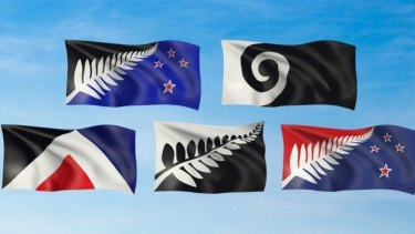 The final five flags voted on in the first referendum, which was open for postal voting for three weeks.