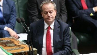 Opposition Leader Bill Shorten in Parliament House.