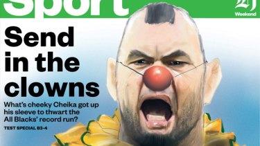 How The New Zealand Herald portrayed Michael Cheika.
