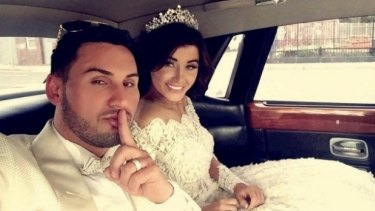 Salim Mehajer during his lavish wedding in Lidcombe, which caused a storm of protest.