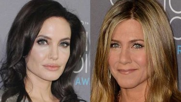 The internet has long peddled a rivalry between Angelina Jolie (left) and Jennifer Aniston (right).