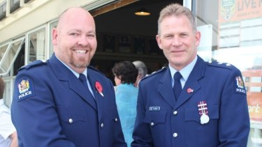 Kumeu constable Rob Bailey was awarded a District Commander's Commendation by Superintendent Bill Searle.