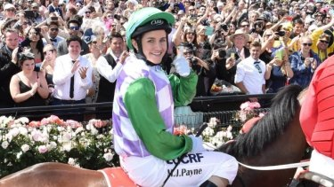 """Breakthrough: Michelle Payne set the horses running when she said horse racing was a """"chauvinistic"""" sport."""