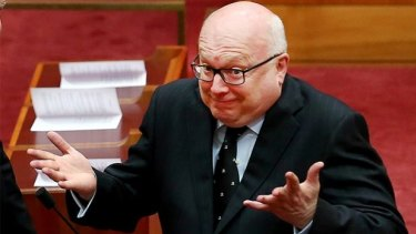 Attorney-General George Brandis introduced the legislation to change section 18C of the Racial Discrimination Act.