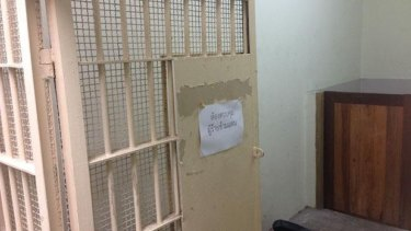 The cell where Thai police say Canadian Alexandre Cazes was found dead.
