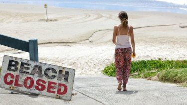 Lennox Head beach was closed after a fatal shark attack in February.