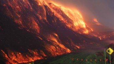 The open cut mine fire at Hazelwood plant near Morwell.