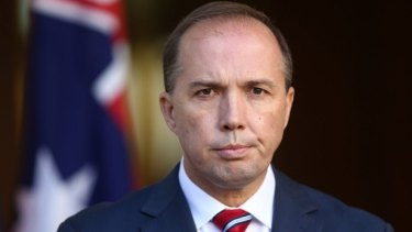 Immigration Minister Peter Dutton.