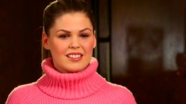 Belle Gibson in a scene from her interview with Channel Nine's 60 Minutes program.