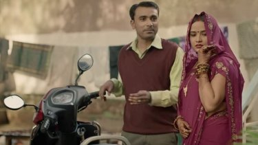 """""""Ask nicely, and I might let you use my things,"""" says this bride in a video made for the government campaign Beti Bachao Beti Padhao (Save your Daughter, Teach your Daughter) in India."""