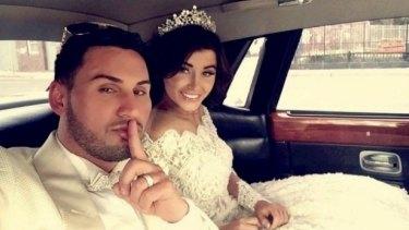 Salim Mehajer and his wife Aysha during their lavish wedding last August.