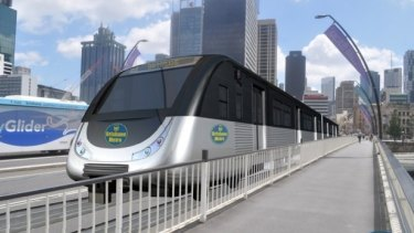 Lord Mayor Graham Quirk's proposed Brisbane metro service would not require overhead wires, with all electrification built within the track system.