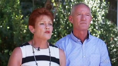 One Nation Senator Pauline Hanson with member for Buderim Steve Dickson.