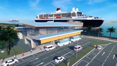Concept design for the planned mega-cruise ship terminal.