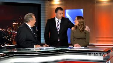 Judd looked uncomfortable as Jones put his arm around her during her last bulletin.