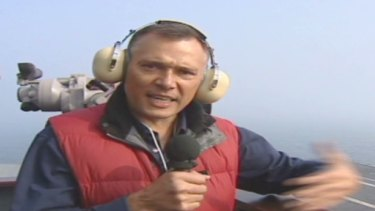 Reporting for CNN on board the USS George Washington in 2010
