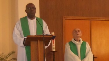 Priest identified as Father Jacques Hamel (right), 84, was killed by knifemen in a church in France.