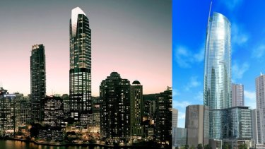 The Trilogy (left) and Vision (right) towers both fell victim to the GFC.