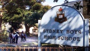 Selective school, Sydney Boys High.