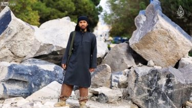 Neil Prakash, who goes by the nom de guerre Abu Khalid al-Cambodi, as he appears in the 12-minute video.