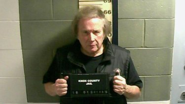 Singer Don McLean gets his mug shot at Knox County Jail in Maine after being arrested on a misdemeanor domestic violence charge.