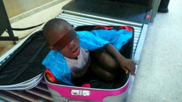 An eight-year-old boy was found inside a suitcase the same border in 2015.
