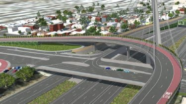 Artist's illustration of the proposed East West Link.