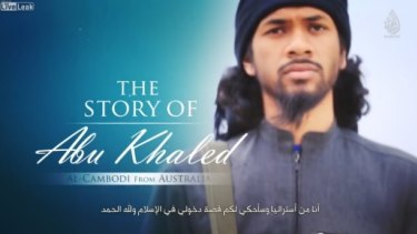 A still from the video in which Neil Prakash calls for attacks on Australia.