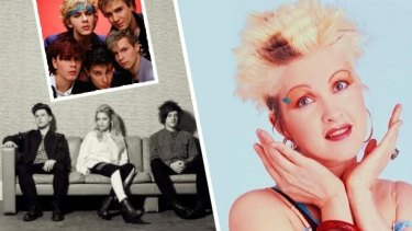 Gold FM's blend of Duran Duran (top left) and Cyndi Lauper (right) proved more popular with Melbourne's youth market than Triple J artists such as London Grammar.