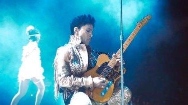 Prince playing in Brisbane.