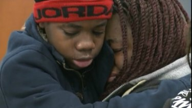 The missing teenager is reunited with his mother.