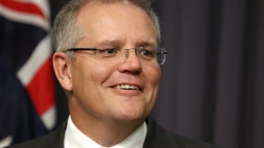 Scott Morrison has promised to protect self-managed super fund trustees who bought property prior to budget night.