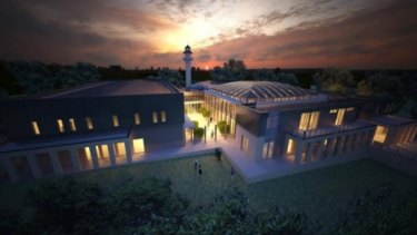 An artist's impression of the proposed Bendigo mosque.