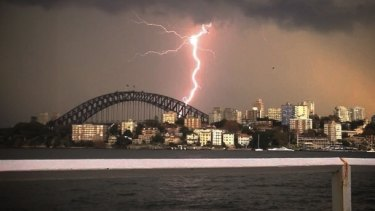 Storms break in Sydney.