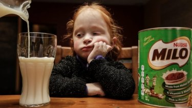 Three-year-old Addison Ibell won't drink her milk anymore because of the change to New Zealand's Milo.