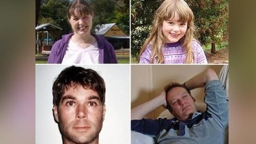 Pictured are Chantelle McDougall and her daughter Leela (top) and Tony Popic (bottom left) and Simon Kadwell.
