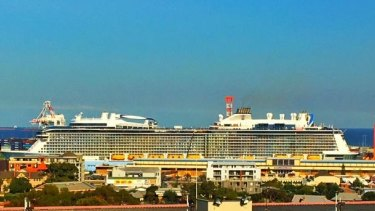 The Ovation of the Seas will stay in Fremantle until Wednesday.