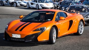 A fleet of over 30 McLaren supercars are travelling from Auckland to Queenstown in New Zealand.