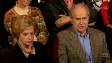 Ron and Patricia Fellows told the <i>Q&A</i> panel that they would look into some form of euthanasia instead of going into an aged care home.